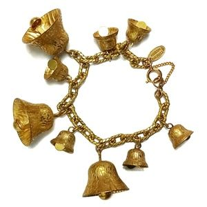 Miriam Haskell Jewelry - Miriam Haskell Signed Vintage Jingle Bell Bracelet